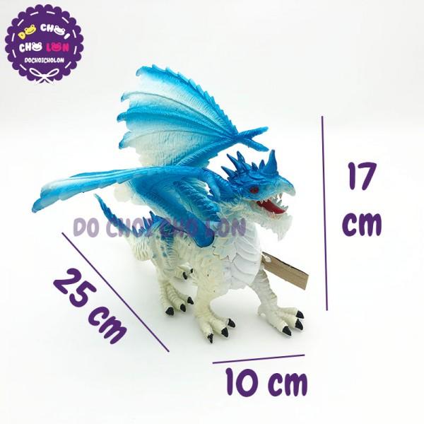 Đồ chơi rồng XANH DƯƠNG có cánh bằng nhựa cứng 056