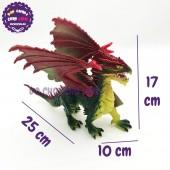 Đồ chơi rồng XANH LÁ có cánh bằng nhựa cứng 056