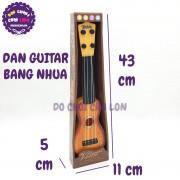 Hộp đồ chơi đàn guitar thùng bằng nhựa 4 dây cước 998-9