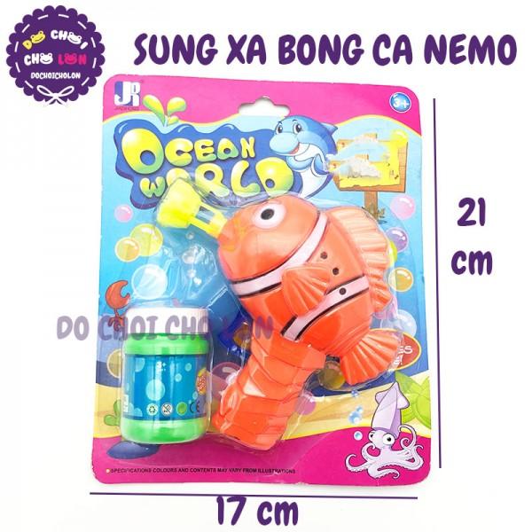Đồ chơi súng thổi bong bóng cá NEMO bóp tay 1 bình P8448A