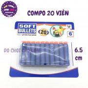 Vỉ đạn xốp 20 viên dài 6.5 cm cho súng bắn xốp 7000B-3