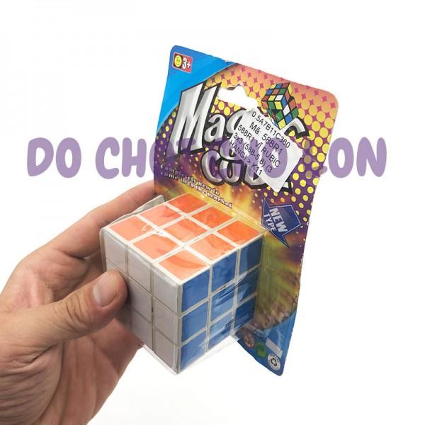 Vỉ đồ chơi Rubik 3x3x3 bằng nhựa giấy dán 588R1