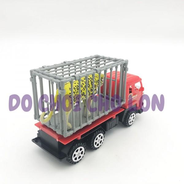 Đồ chơi xe tải chở thú 6 bánh chạy trớn YC2011
