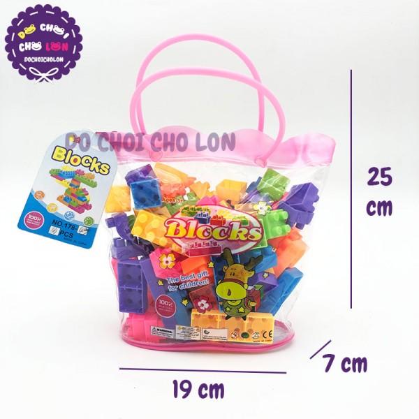 Giỏ đồ chơi lắp ráp hình hươu sừng bằng nhựa 178-43