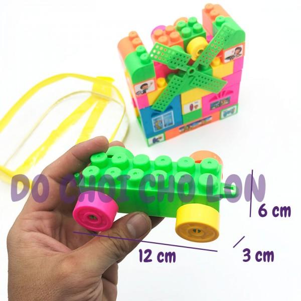 Cặp đồ chơi lắp ráp chong chóng 45 mảnh ghép bằng nhựa 8805T