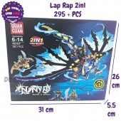Hộp đồ chơi lắp ráp Ninja rồng (SQIFFY) 2in1 295 miếng 637B