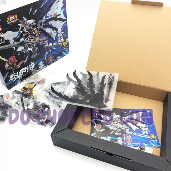 Hộp đồ chơi lắp ráp Ninja rồng (STONE SWORDSMAN) 2in1 294 miếng 635A