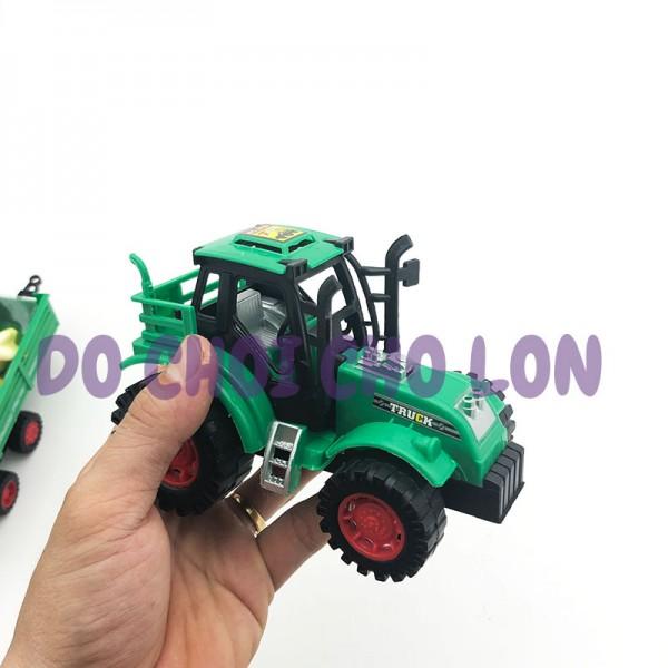 Đồ chơi xe đầu kéo chở trái cây bằng nhựa chạy trớn 1035-11