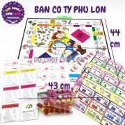 Bộ đồ chơi bàn cờ Tỷ Phú LỚN bằng nhựa SIZE 44 x 43 cm