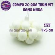 Bộ đồ chơi 20 quả trứng vịt bằng nhựa túi lưới SIZE 4x5 cm