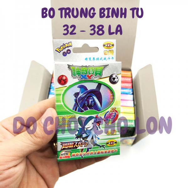 Hộp 20 bộ bài Pokemon (38 lá/bộ) bằng giấy cứng
