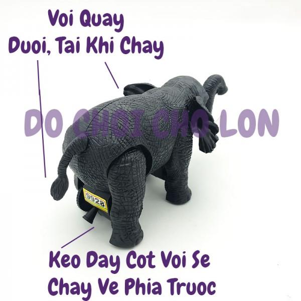 Đồ chơi con voi có 2 ngà chạy bằng dây cót 9928