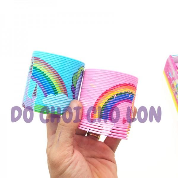 Đồ chơi lò xo cầu vồng hình NGỰA PONY bằng nhựa B1219-DJ