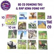 Bộ cờ Domino Thú và Ráp Hình Động Vật cho bé LHT KDT