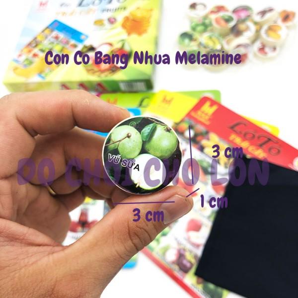 Cờ Lô Tô Trái Cây bằng nhựa Melamine 20 con cờ LHT KLTTC