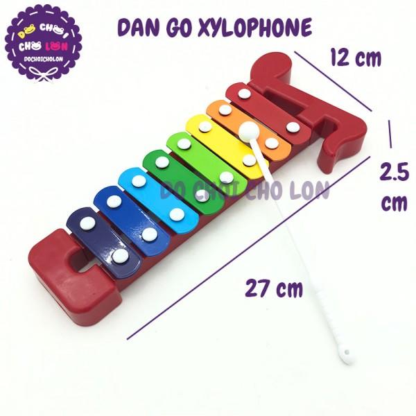 Đồ chơi đàn gõ Xylophone 8 thanh bằng sắt 30172AB