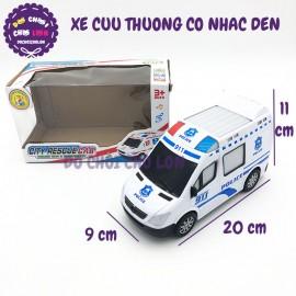 Hộp đồ chơi xe cứu thương chạy pin có đèn nhạc City Rescue Car 872