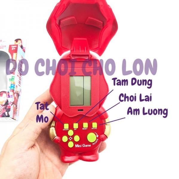 Hộp đồ chơi game điện tử xếp hình Iron Man, xếp xạch 158A-15