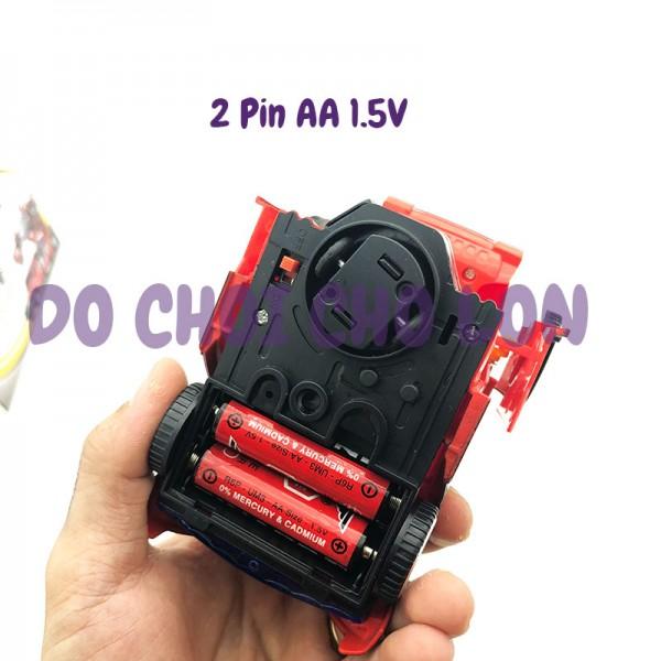 Hộp đồ chơi xe hơi biến hình Robot SUPER CAR có đèn nhạc AK-829