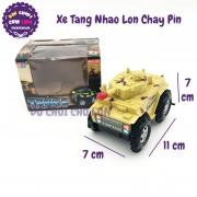 Hộp đồ chơi xe tăng nhào lộn chạy pin có đèn nhạc V-149