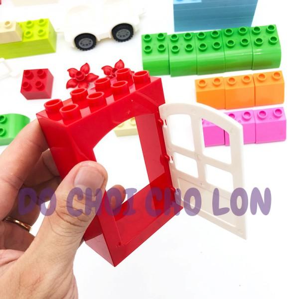 Đồ chơi lắp ráp, xếp hình ngôi nhà xe bằng nhựa PVC 320-2