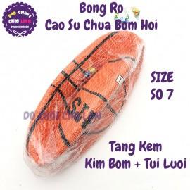 Quả bóng rổ cao su số 7 tặng kèm kim bơm + túi lưới E719-33
