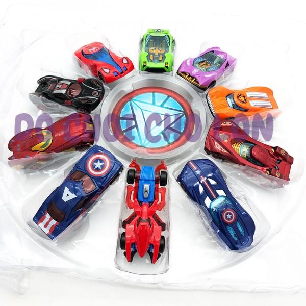 Đồ chơi 10 xe hơi siêu anh hùng bằng SẮT xếp hình tròn 0418-30