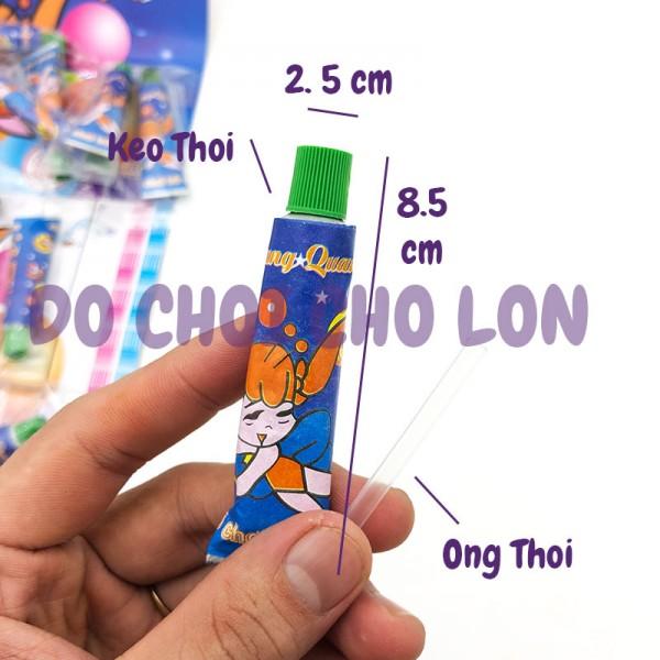 Vỉ đồ chơi 32 tuýp keo LỚN thổi bong bóng cho bé