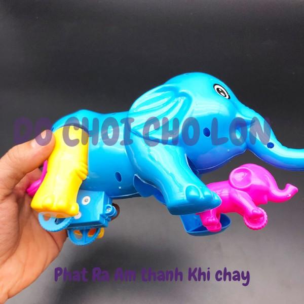 Đồ chơi voi MẸ CON chạy bằng dây cót có âm thanh