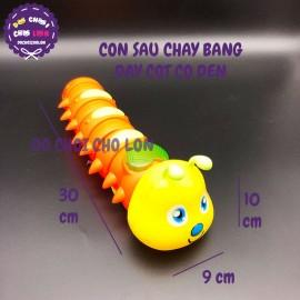 Đồ chơi con sâu hình mặt cười có đèn chạy bằng dây cót