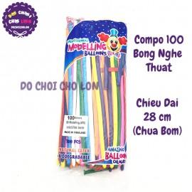 Bộ 100 bong bóng dài tạo hình nghệ thuật Thái Lan