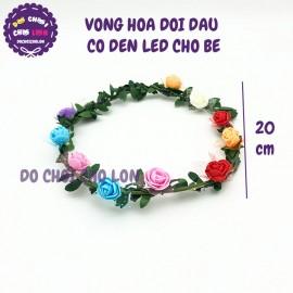 Vòng hoa đội đầu có đèn led cho bé đường kính 20 cm