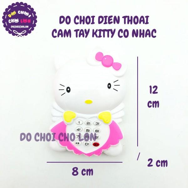 Đồ chơi điện thoại bàn cầm tay Kitty dùng pin có nhạc M888-2