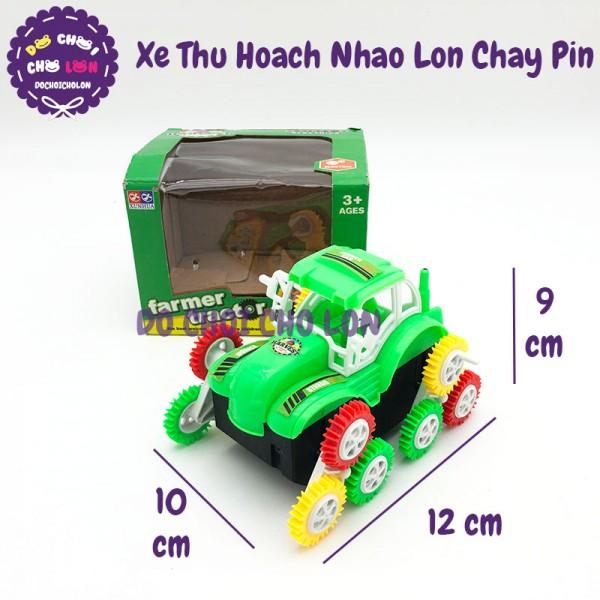 Hộp đồ chơi xe THU HOẠCH nhào lộn 12 bánh chạy pin V319
