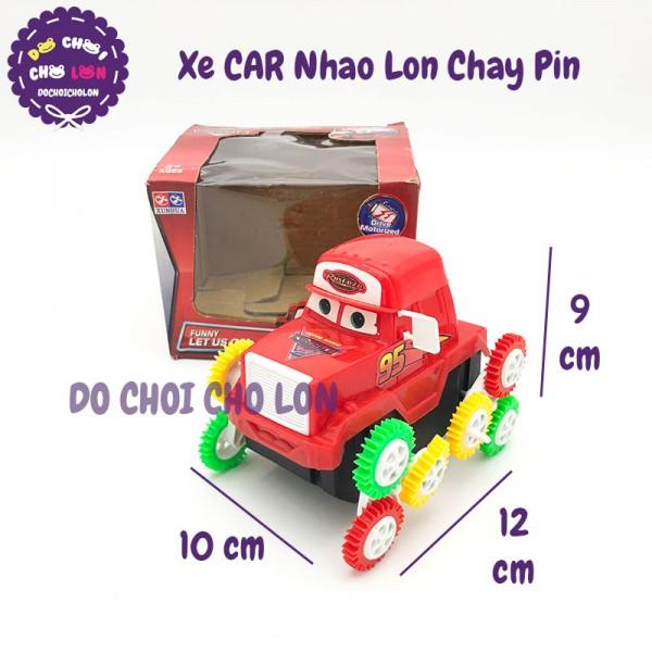 Hộp đồ chơi xe CARS nhào lộn 12 bánh chạy pin V318