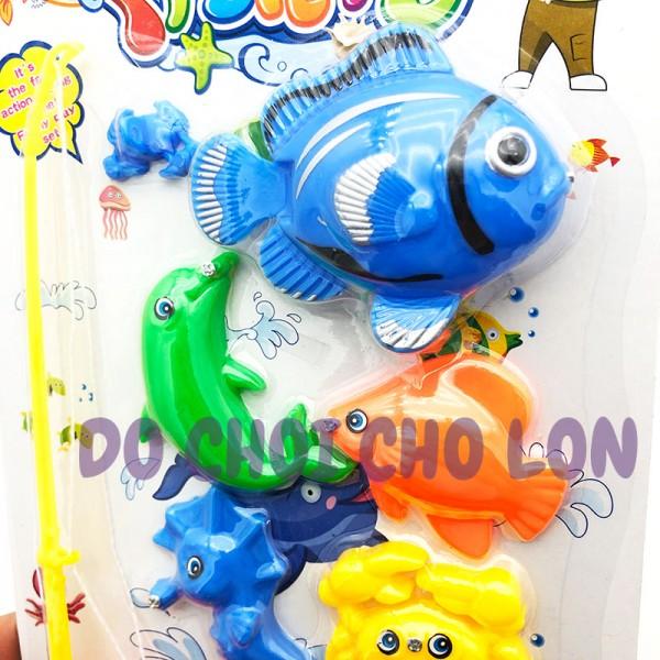 Vỉ đồ chơi câu cá 1 cần 8 cá bằng nam châm SFYC14