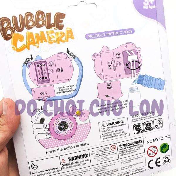 Đồ chơi Máy Chụp Hình thổi bong bóng xà phòng 2 bình có đèn nhạc MY121Y-2