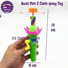 Đồ chơi quạt đèn 2 cánh quay tay DY02-25