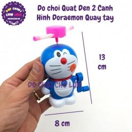 Đồ chơi quạt đèn Doraemon 2 cánh quay tay 2688-3