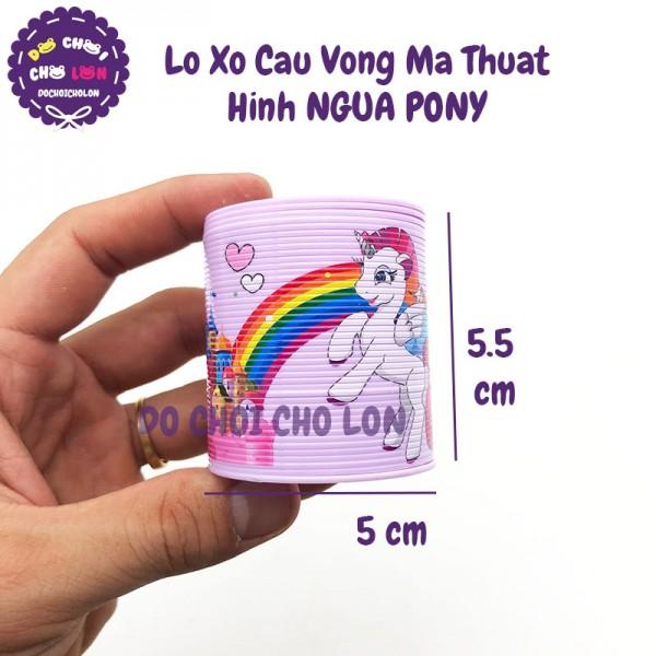 Đồ chơi lò xo cầu vồng NHỎ ngựa PONY size 5CM MSC106-18