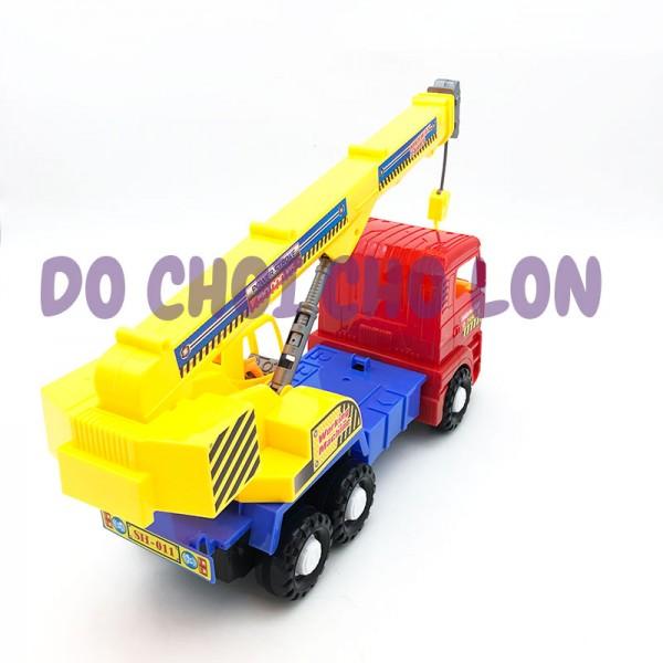 Đồ chơi xe cẩu móc SH011 bằng nhựa chạy trớn size 40x12x18cm
