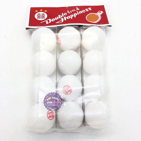 Bộ 12 banh đánh bóng bàn 6 trái bằng nhựa