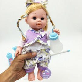Hộp đồ chơi em bé ngậm bình sữa lau nhà dùng pin có nhạc