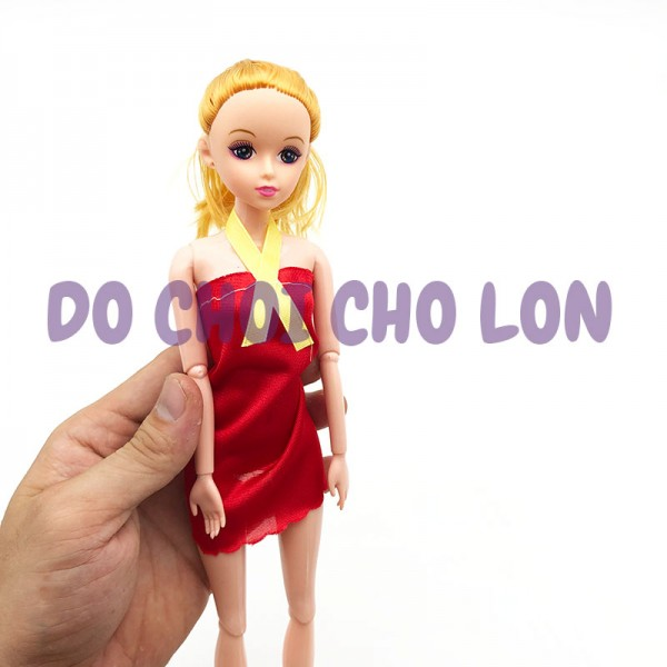 Đồ chơi búp bê gái tóc NGẮN 11 khớp nối size 30 cm bằng nhựa