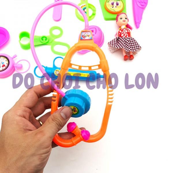 Đồ chơi rổ bé tập làm bác sĩ 15 món bằng nhựa 6868