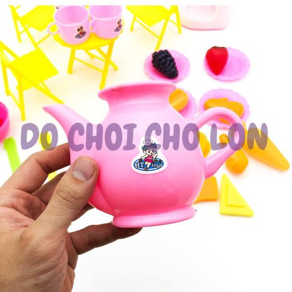 Đồ chơi trang trí bàn tiệc 33 món cho bé bằng nhựa HT7621