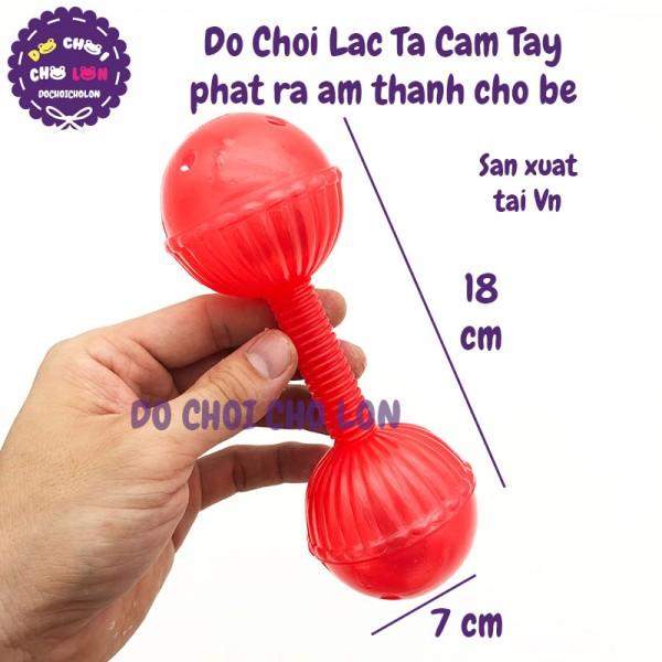Đồ chơi lắc tạ 2 banh cầm tay phát ra âm thanh cho bé bằng nhựa