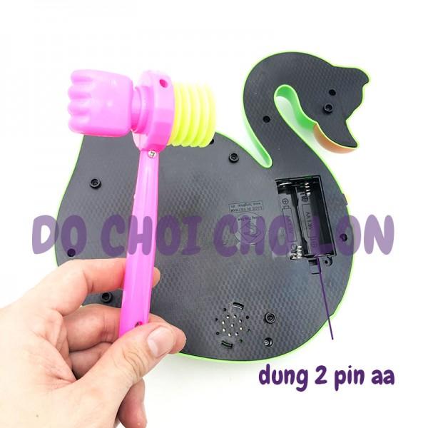 Hộp đồ chơi đập chuột hình con THIÊN NGA phát nhạc dùng pin