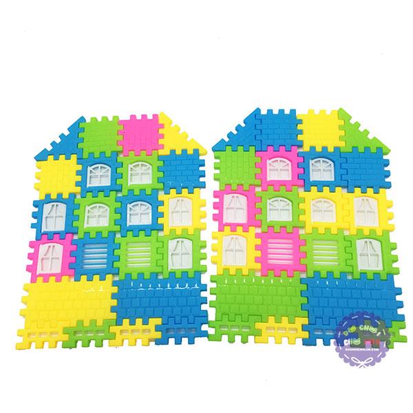 Bộ đồ chơi xếp hình ngôi nhà 3D bằng nhựa Bricks Set