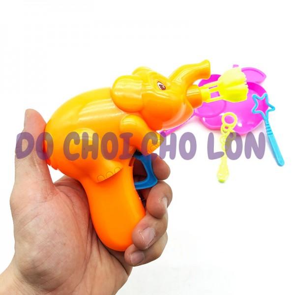 Đồ chơi bắn bong bóng xà phòng hình chú voi kèm khay 789-8A